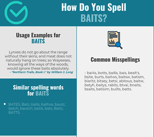 Correct spelling for baits
