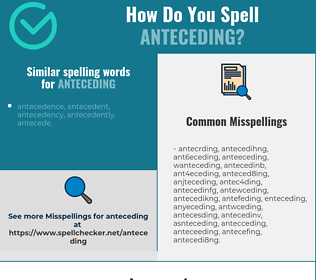 Correct spelling for anteceding