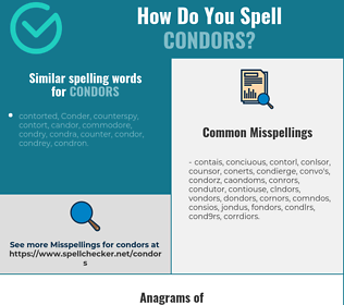 Correct spelling for condors