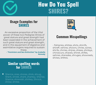 Correct spelling for Shires
