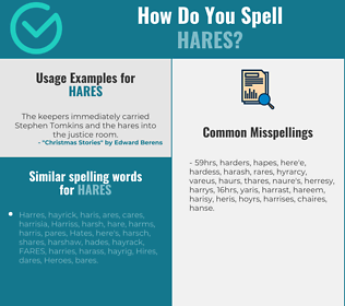 Correct spelling for hares