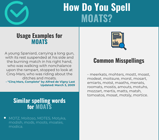 Correct spelling for moats