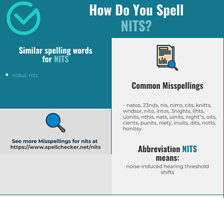 Correct spelling for nits