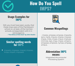 Correct spelling for imps