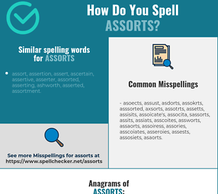 Correct spelling for assorts