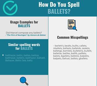 Correct spelling for ballets