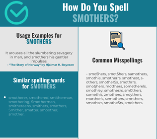 Correct spelling for smothers