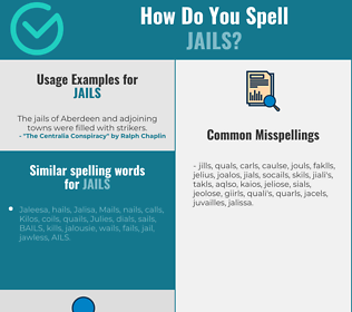 Correct spelling for jails