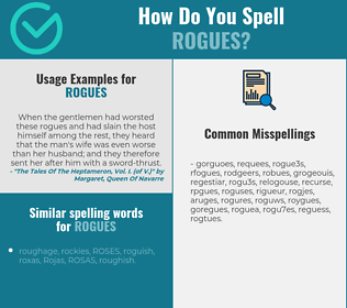 Correct spelling for rogues