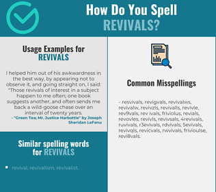 Correct spelling for revivals
