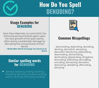 Correct spelling for denuding