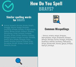 Correct spelling for brays