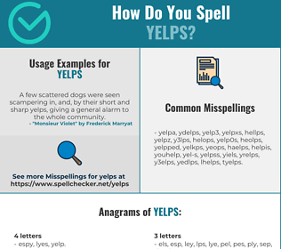 Correct spelling for yelps