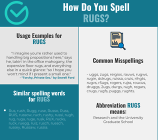 Correct spelling for rugs