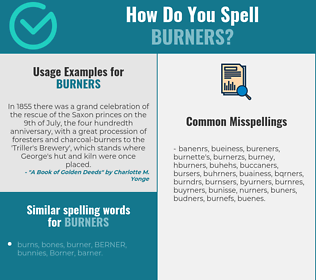 Correct spelling for burners