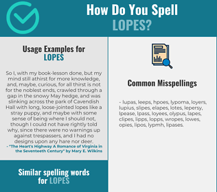 Correct spelling for lopes
