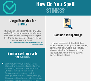 Correct spelling for stinks