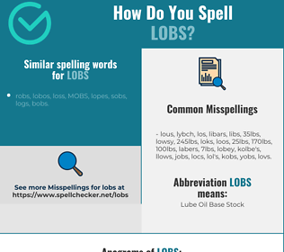 Correct spelling for lobs