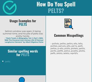 Correct spelling for pelts