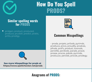 Correct spelling for prods