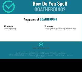 Correct spelling for goatherding