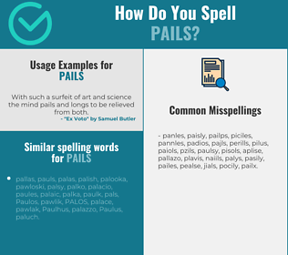 Correct spelling for pails