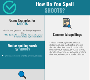 Correct spelling for shoots