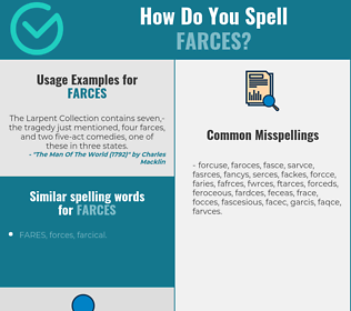 Correct spelling for farces