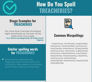 Correct spelling for treacheries