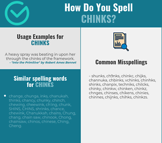 Correct spelling for chinks