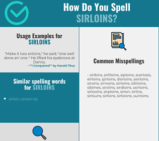 Correct spelling for sirloins
