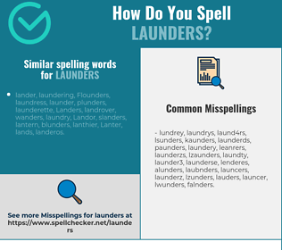 Correct spelling for launders