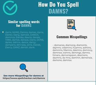 Correct spelling for damns