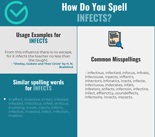 Correct spelling for infects