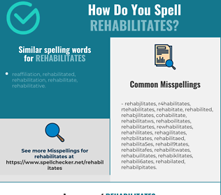 Correct spelling for rehabilitates