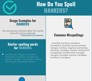 Correct spelling for hankers