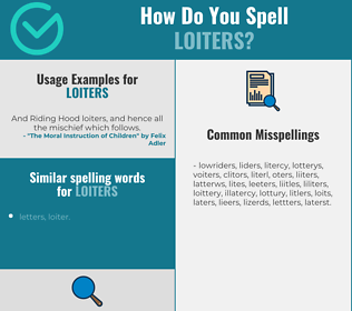 Correct spelling for loiters