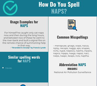 Correct spelling for naps