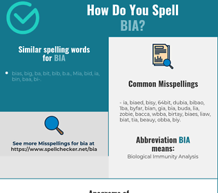 Correct spelling for BIA