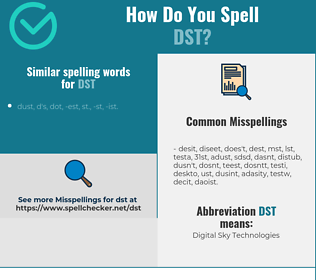 Correct spelling for DST