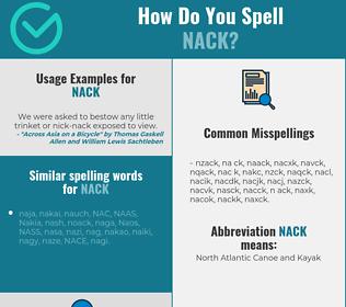 Correct spelling for NACK