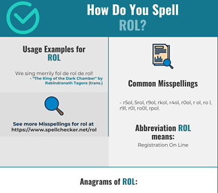 Correct spelling for ROL