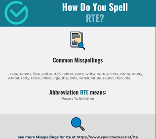 Correct spelling for RTE