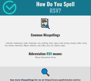 Correct spelling for RSV