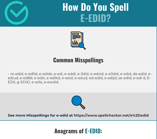 Correct spelling for E-EDID