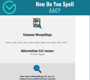 Correct spelling for AAC