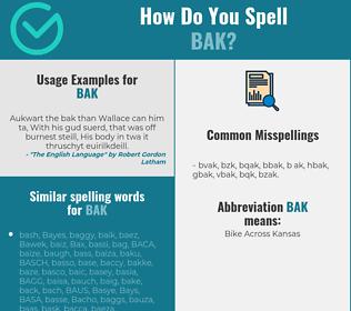 Correct spelling for BAK