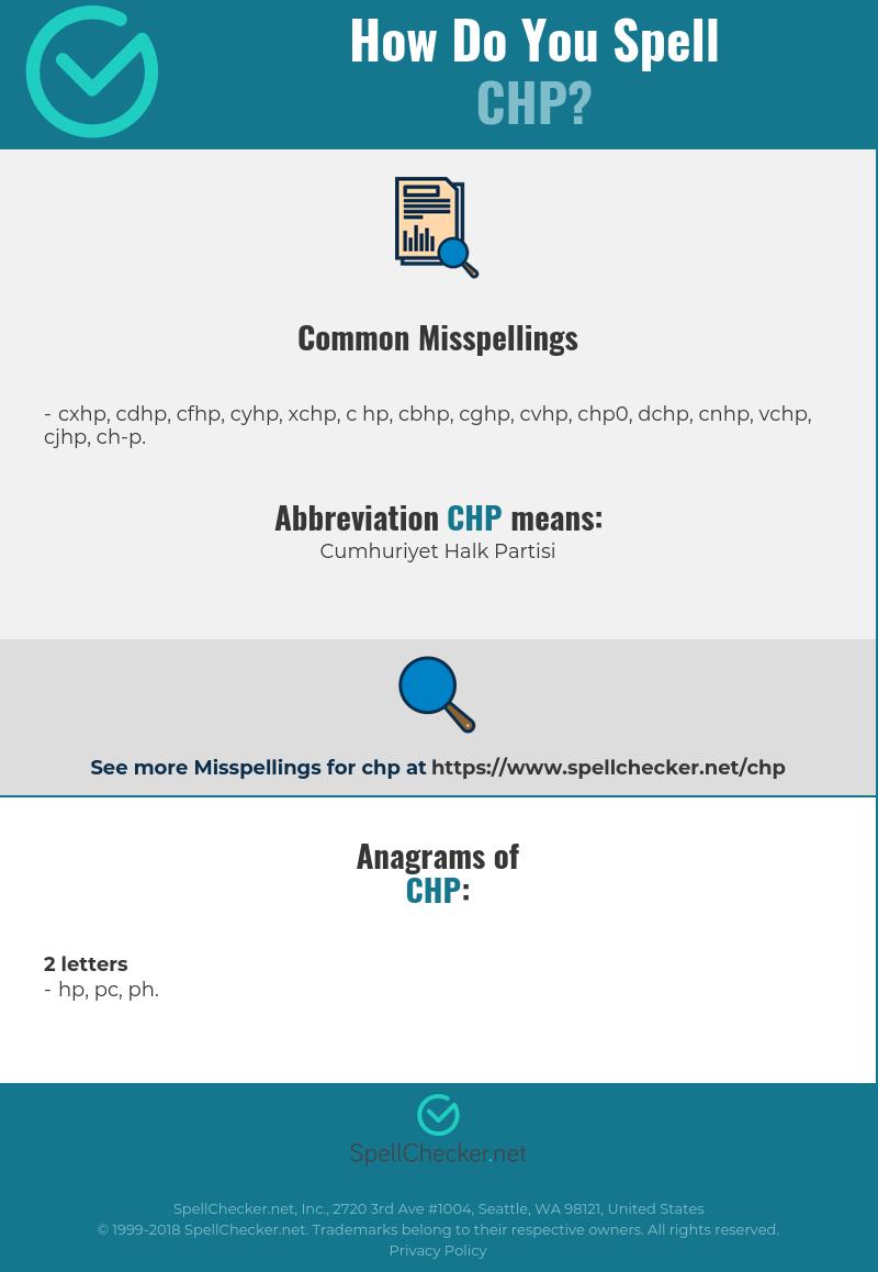 Correct Spelling For Chp Infographic Spellchecker Net
