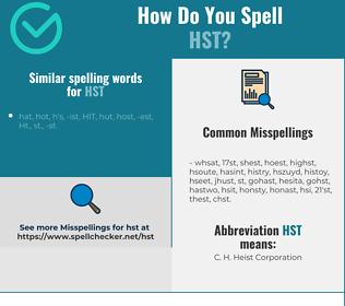 Correct spelling for HST