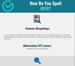 Correct spelling for MPG